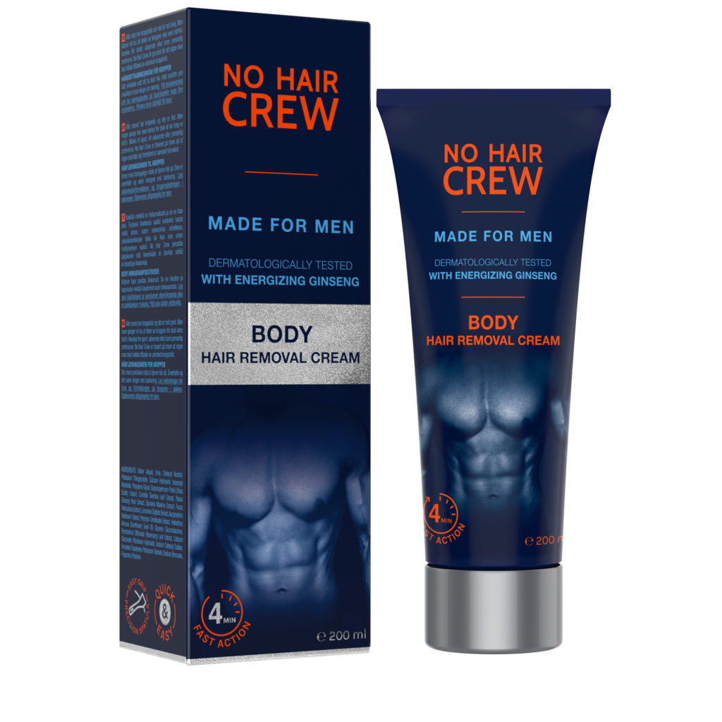 NO HAIR CREW Body Hair Removal Cream with Energizing Ginseng