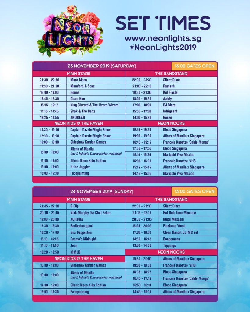 Schedule Line-Up