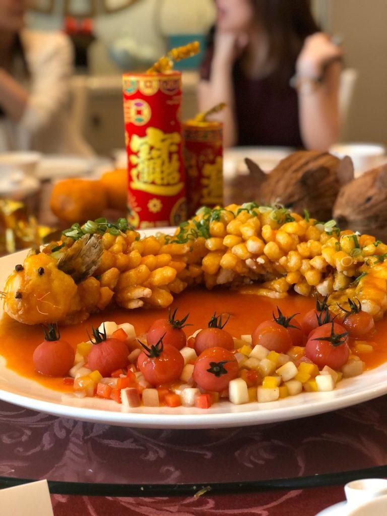 Full of Luck Deep-Fried Chilean Seabass