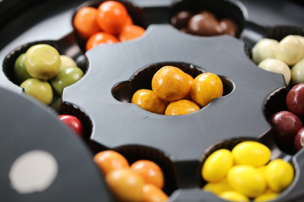 Chocolate Coated Nuts and Fruit Jellies